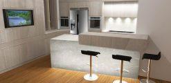 Cucina in boiserie moderna