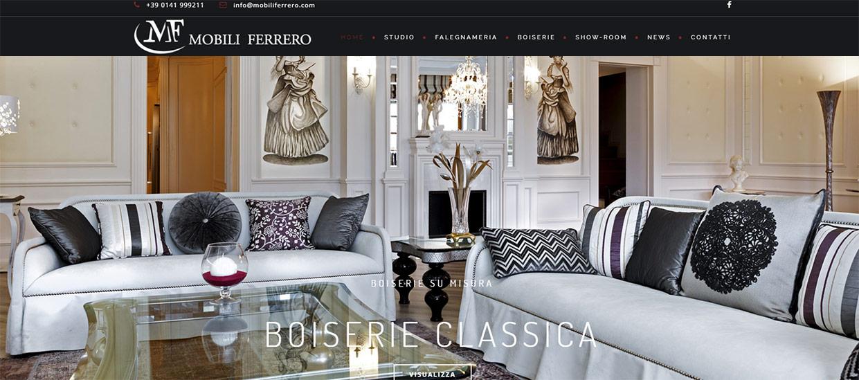 Online il nuovo sito mobili ferrero for Sito mobili online