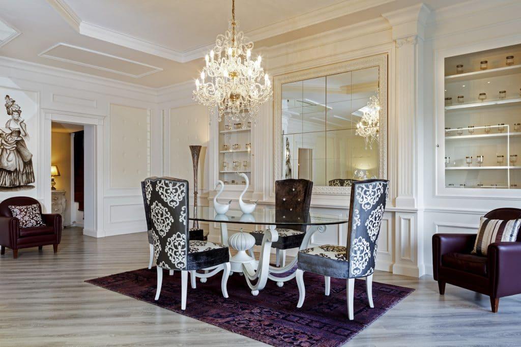 Progetto salone in boiserie expocasa mobili ferrero for Mobili x salone