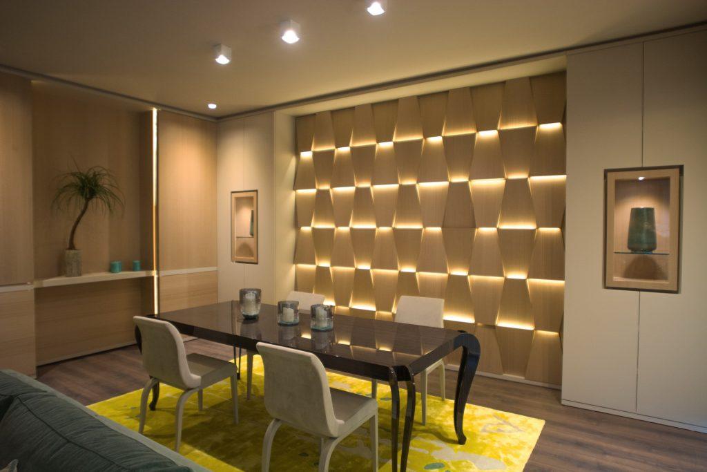 Progetto soggiorno moderno con cantina Expocasa - Mobili Ferrero